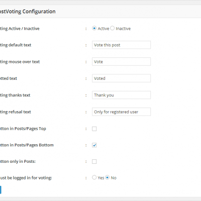 WP post voting settings