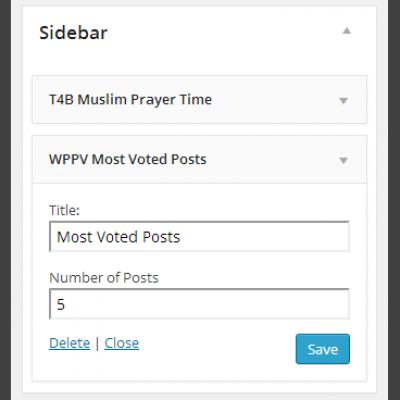 WP post voting widget