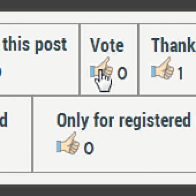 WP post voting icon