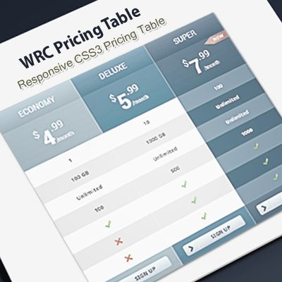 WordPress Responsive Pricing Tables   WRC Pricing Tables   CSS3 Tables