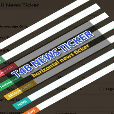 Horizontal News Ticker Plugin   Free WordPress Plugin   T4B News Ticker