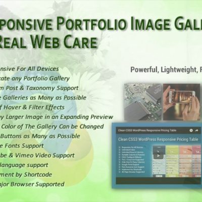 Responsive Portfolio Image Gallery Pro