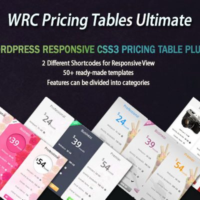 WRC Pricing Tables Ultimate